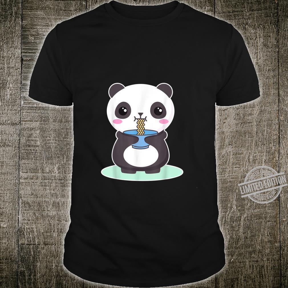 Kawaii Panda Bear Ramen Noodles Japan Anime Shirt