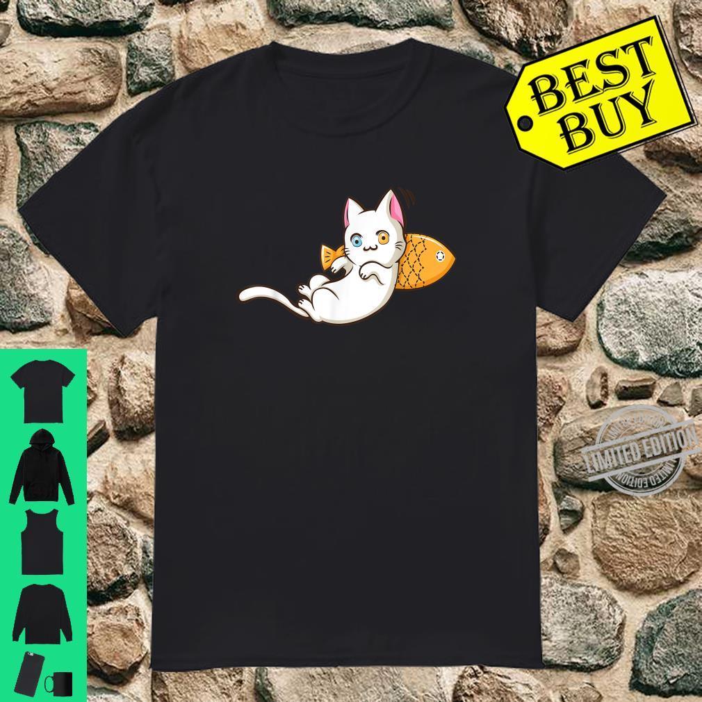 Khao Manee Cat Kawaii Anime Chibi Khao Plort Kitten Shirt