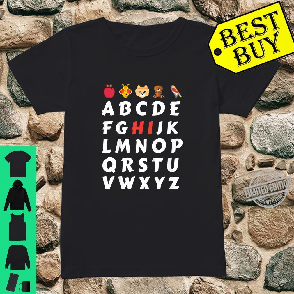 Kinder ABC Einschulung Mit HI Shirt ladies tee