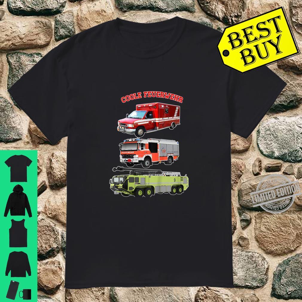 Kinder Coole Feuerwehr Fahrzeuge für Kinder Shirt Shirt
