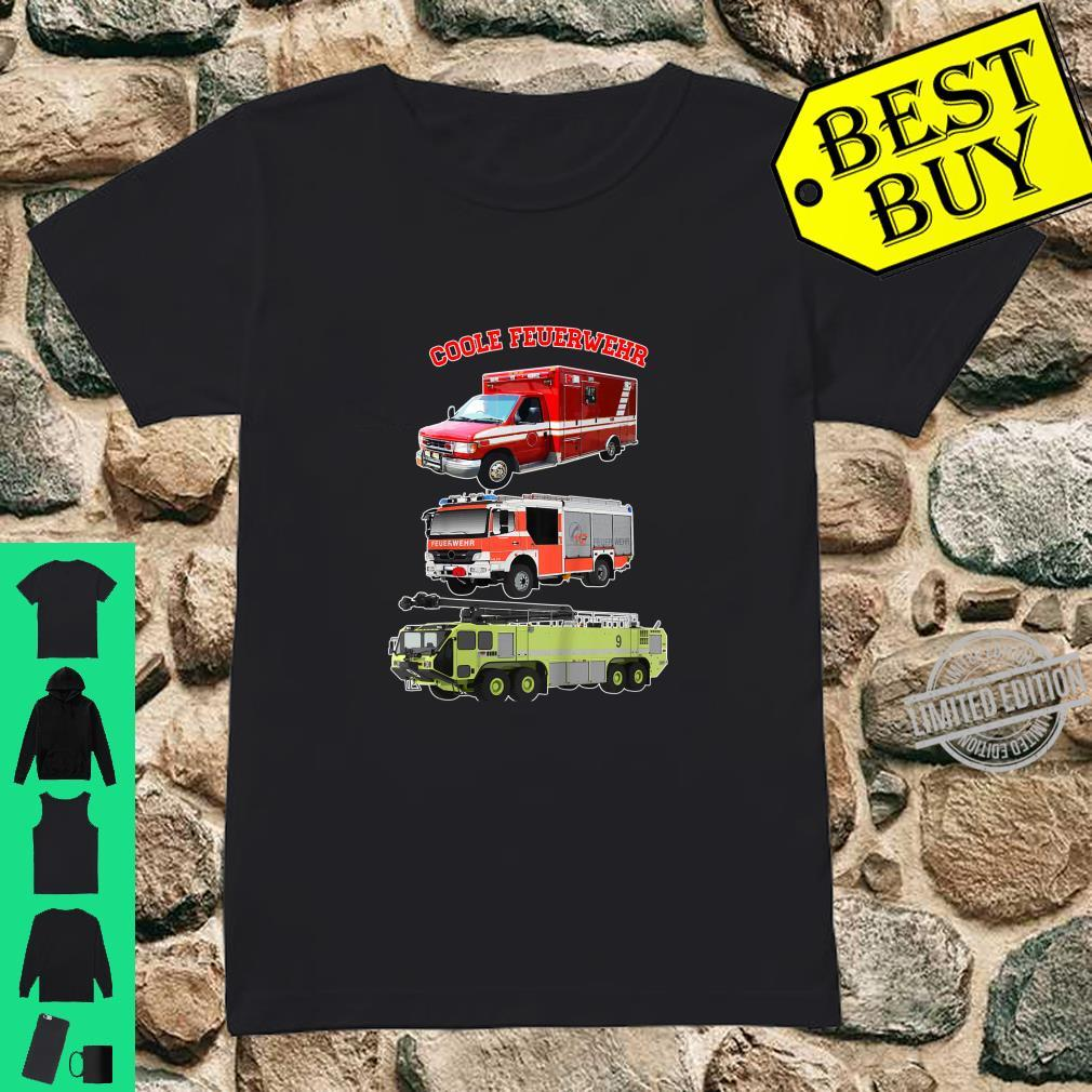 Kinder Coole Feuerwehr Fahrzeuge für Kinder Shirt Shirt ladies tee