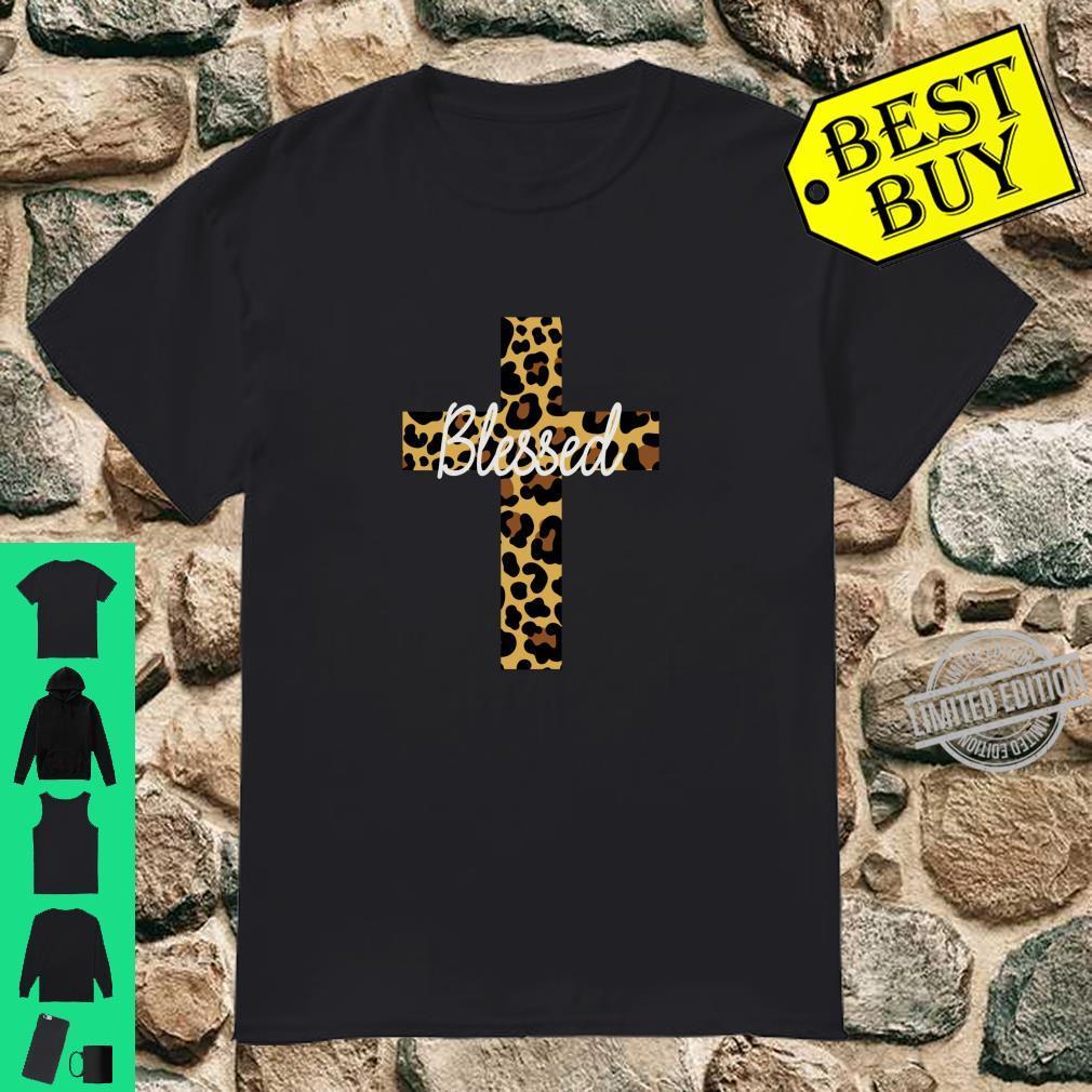Leopard Cross Blessed Shirt