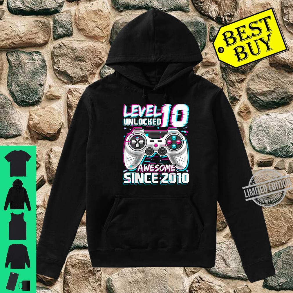 Level 10 Unlocked Awesome 2010 Video Game 10th Birthday Shirt hoodie