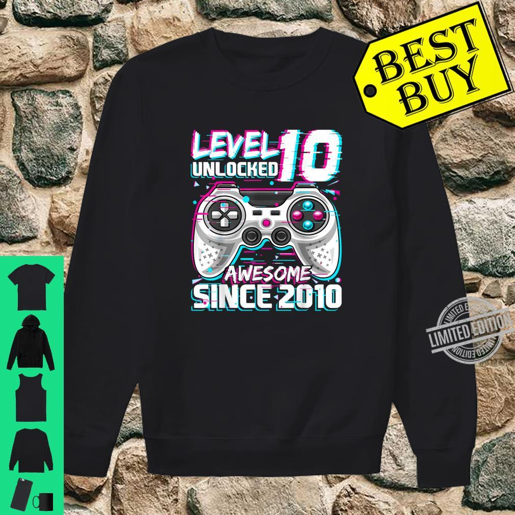 Level 10 Unlocked Awesome 2010 Video Game 10th Birthday Shirt sweater
