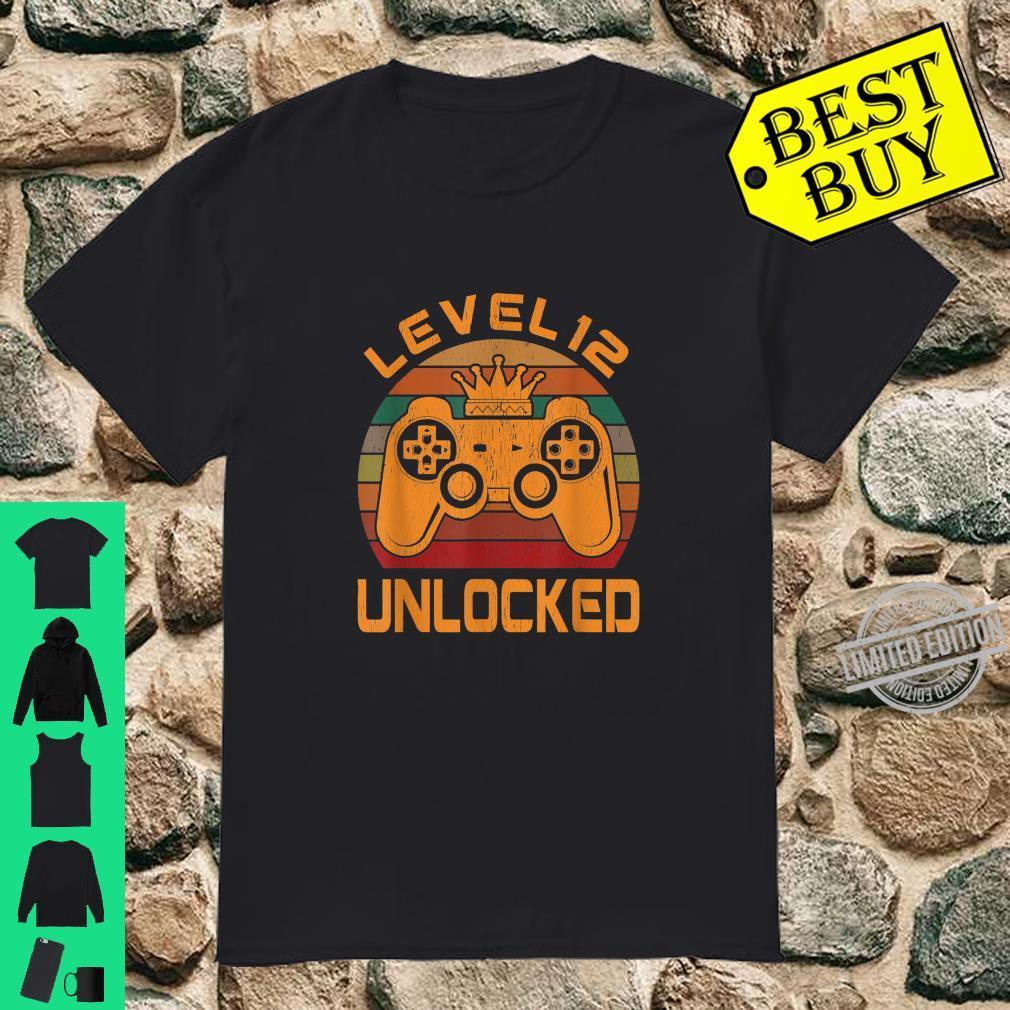 Level 12 Unlocked Video Gamer 12th Birthday Shirt