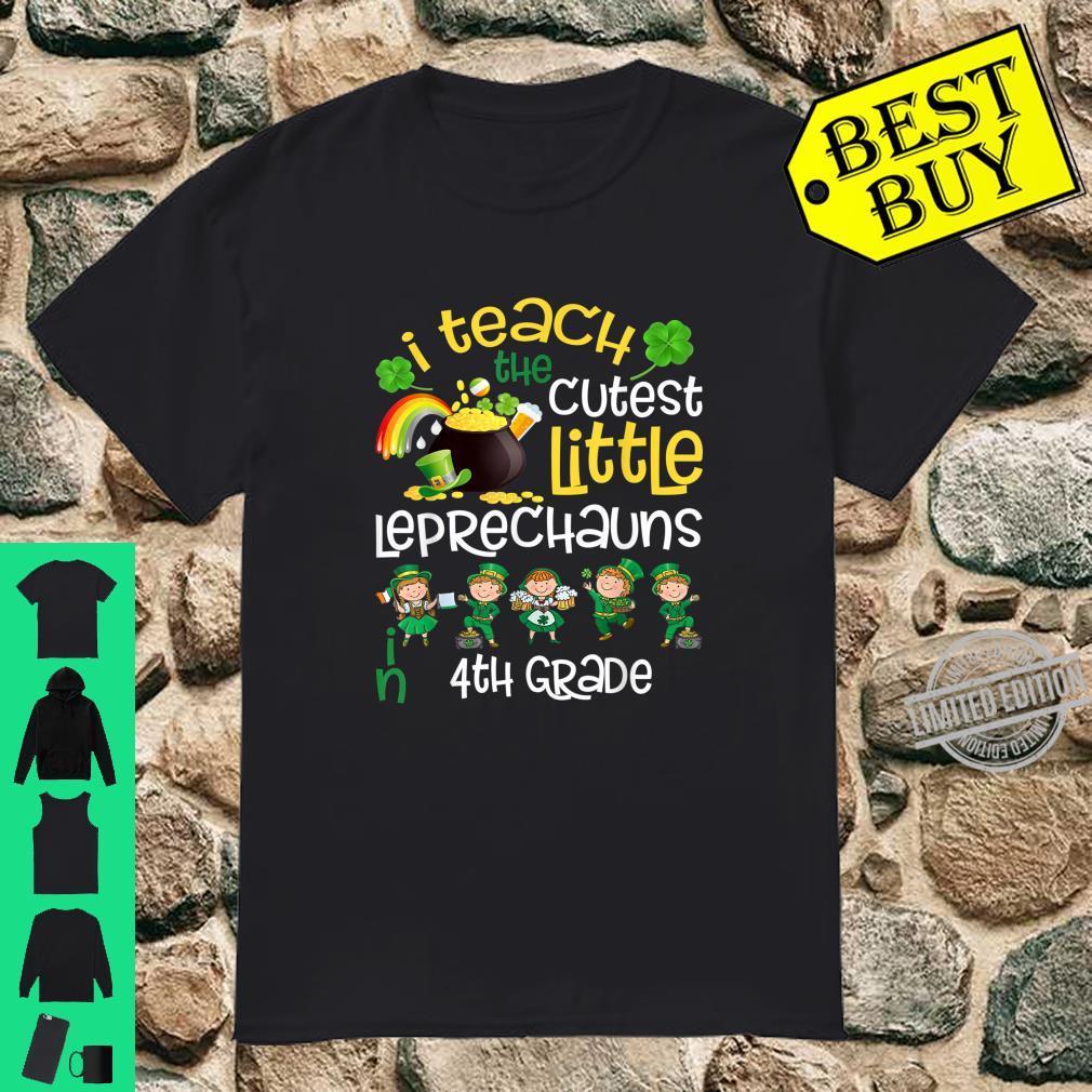 Lucky Leprechauns St Patricks Day 4th Grade Teacher Shirt