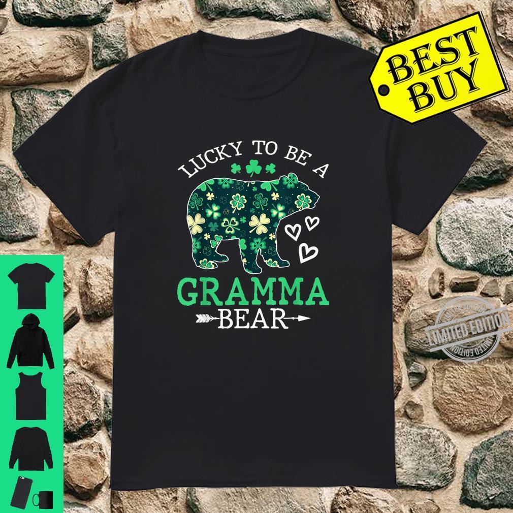 Lucky To Be A Gramma Bear Shirt St Patrick Day Shirt