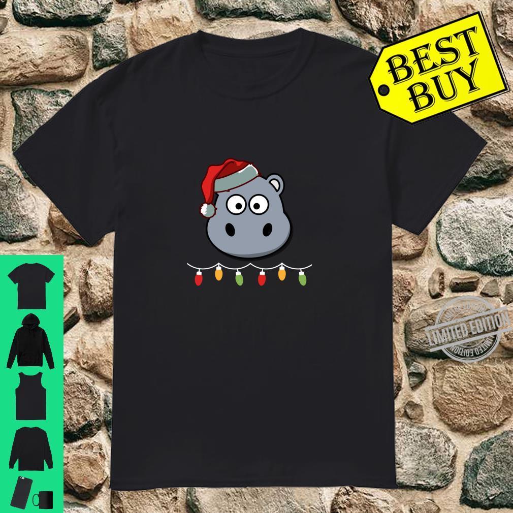 Lustiges Nilpferd, Weihnachten Langarmshirt Shirt