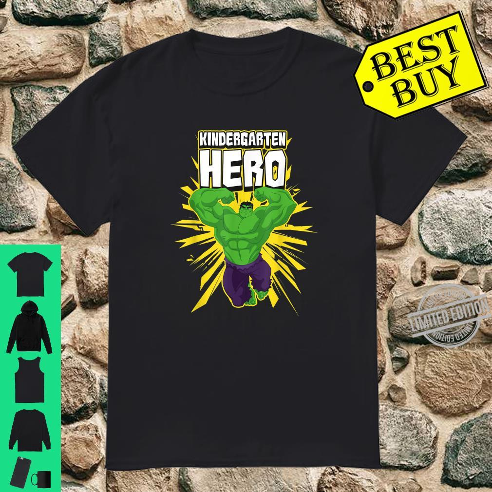 Marvel The Incredible Hulk Kindergarten Hero School Text Shirt