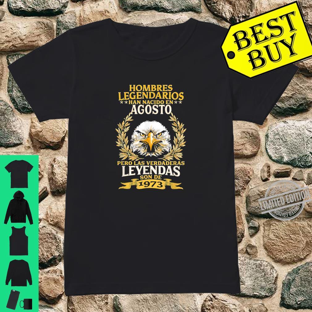 Mens 47th Birthday 4 in Spanish Cumpleaños 47 Agosto Shirt ladies tee