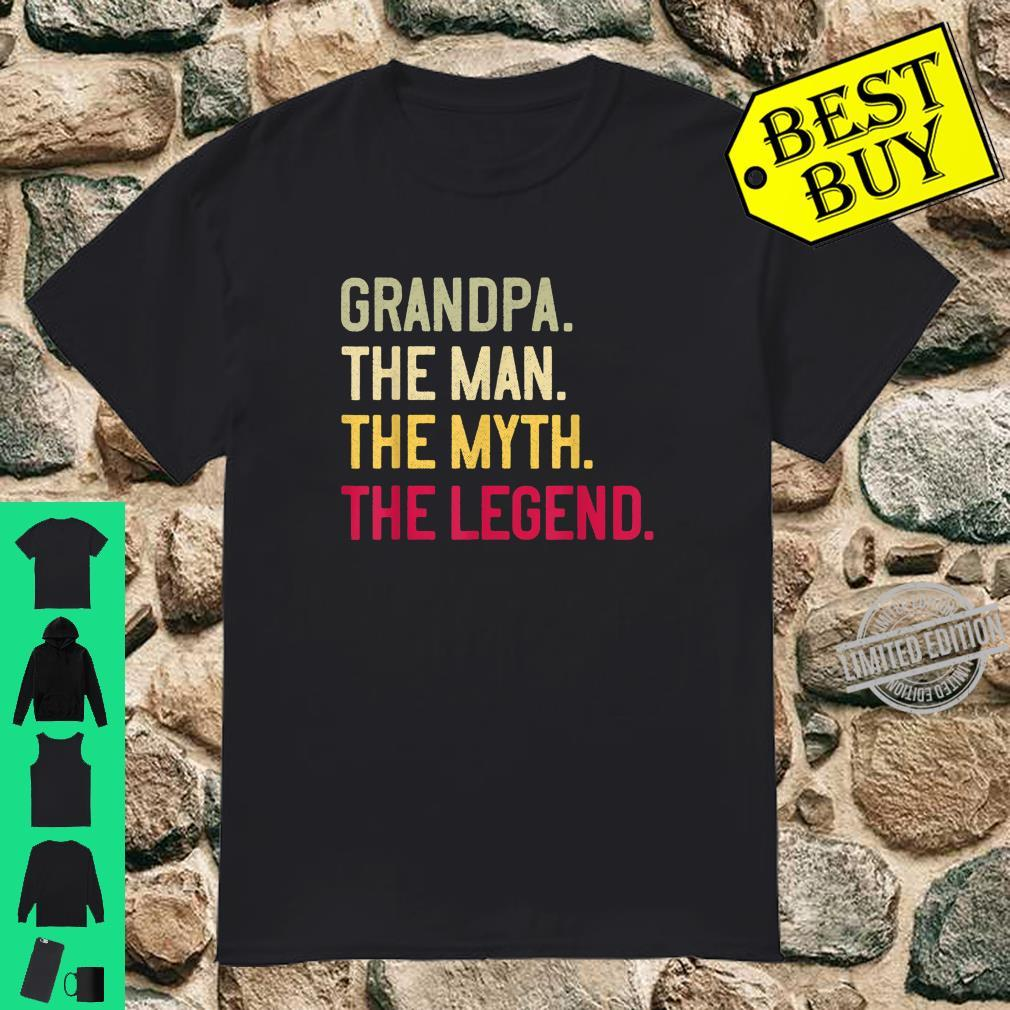 Mens Grandpa The Man The Myth The Legend Father's Day Papa Shirt