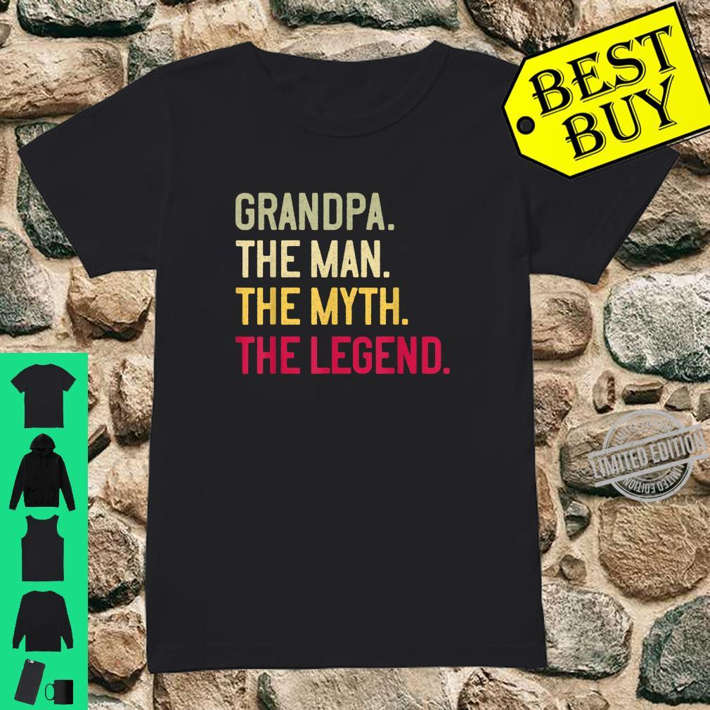 Mens Grandpa The Man The Myth The Legend Father's Day Papa Shirt ladies tee