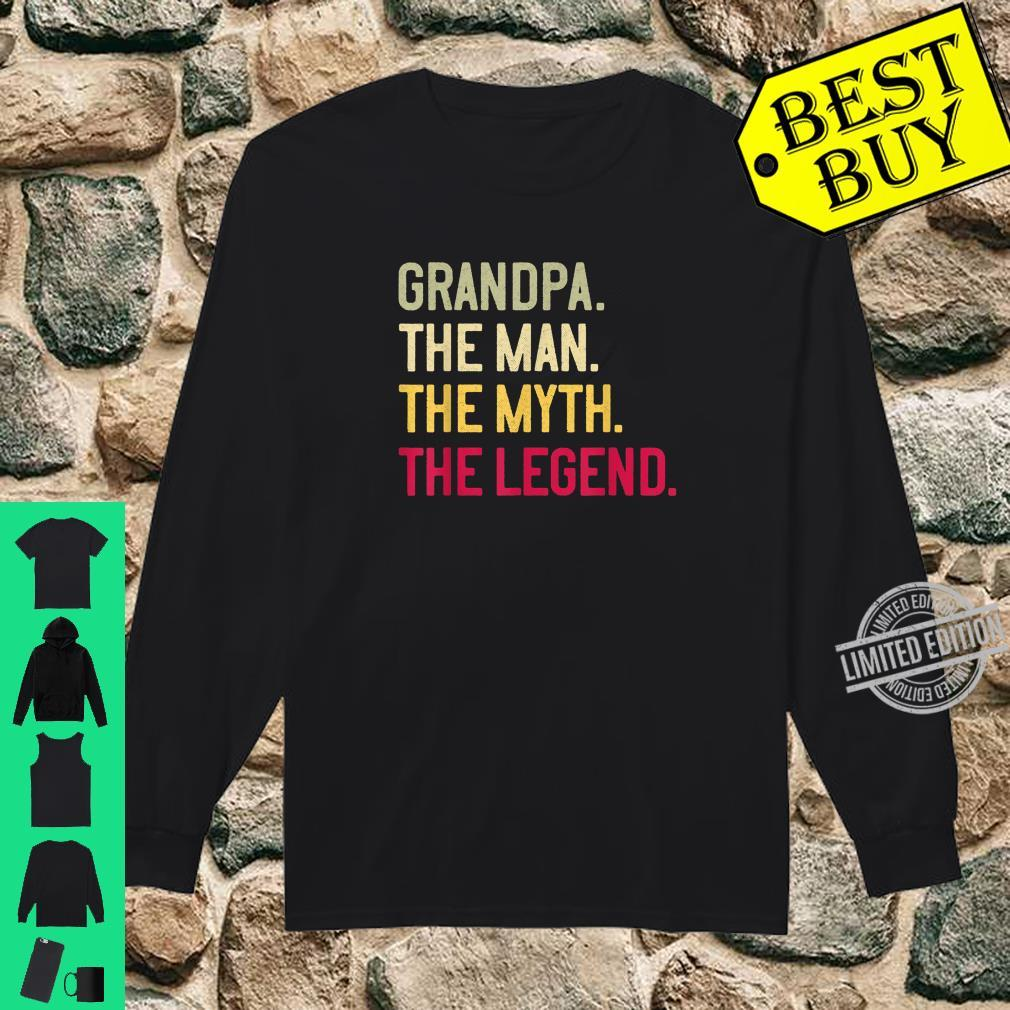 Mens Grandpa The Man The Myth The Legend Father's Day Papa Shirt long sleeved