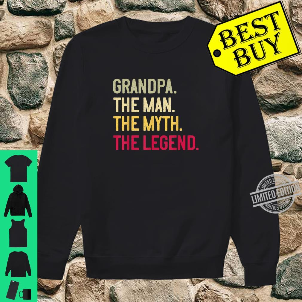 Mens Grandpa The Man The Myth The Legend Father's Day Papa Shirt sweater