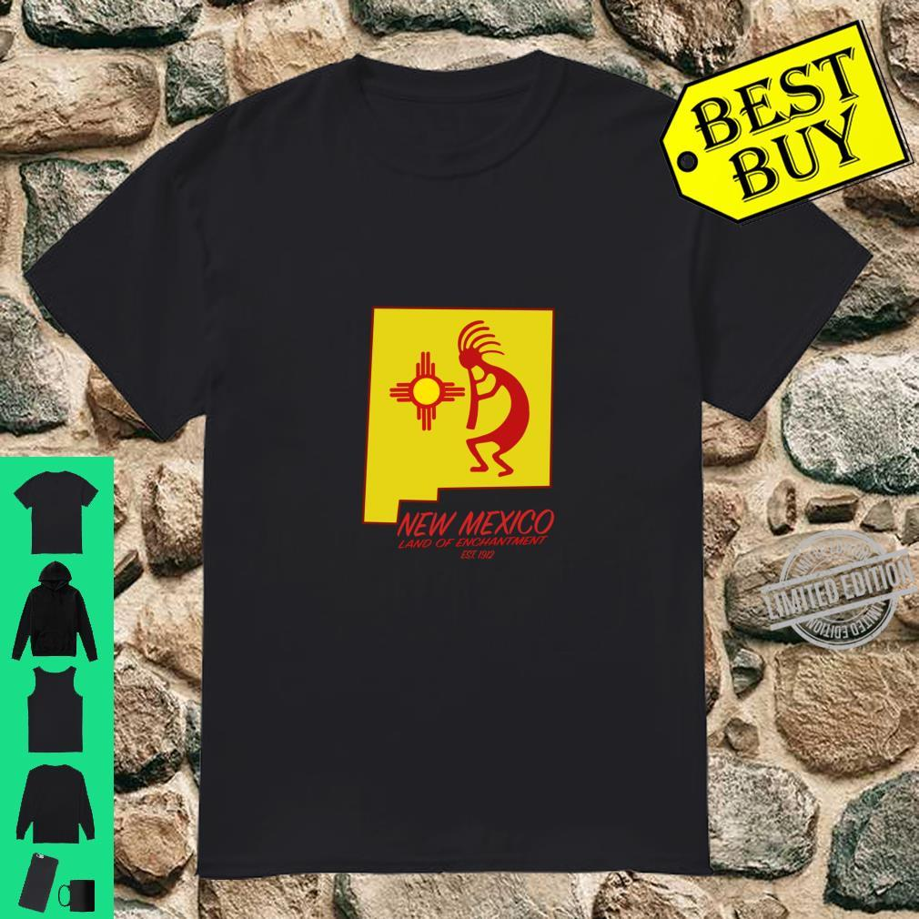 New Mexico Land of Enchantment Kokopelli Dancer Zia Symbol Shirt