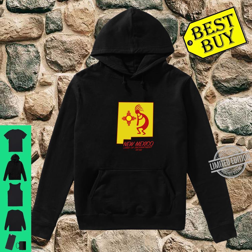 New Mexico Land of Enchantment Kokopelli Dancer Zia Symbol Shirt hoodie