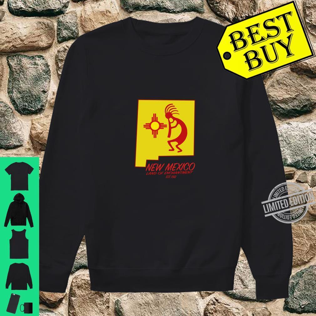 New Mexico Land of Enchantment Kokopelli Dancer Zia Symbol Shirt sweater