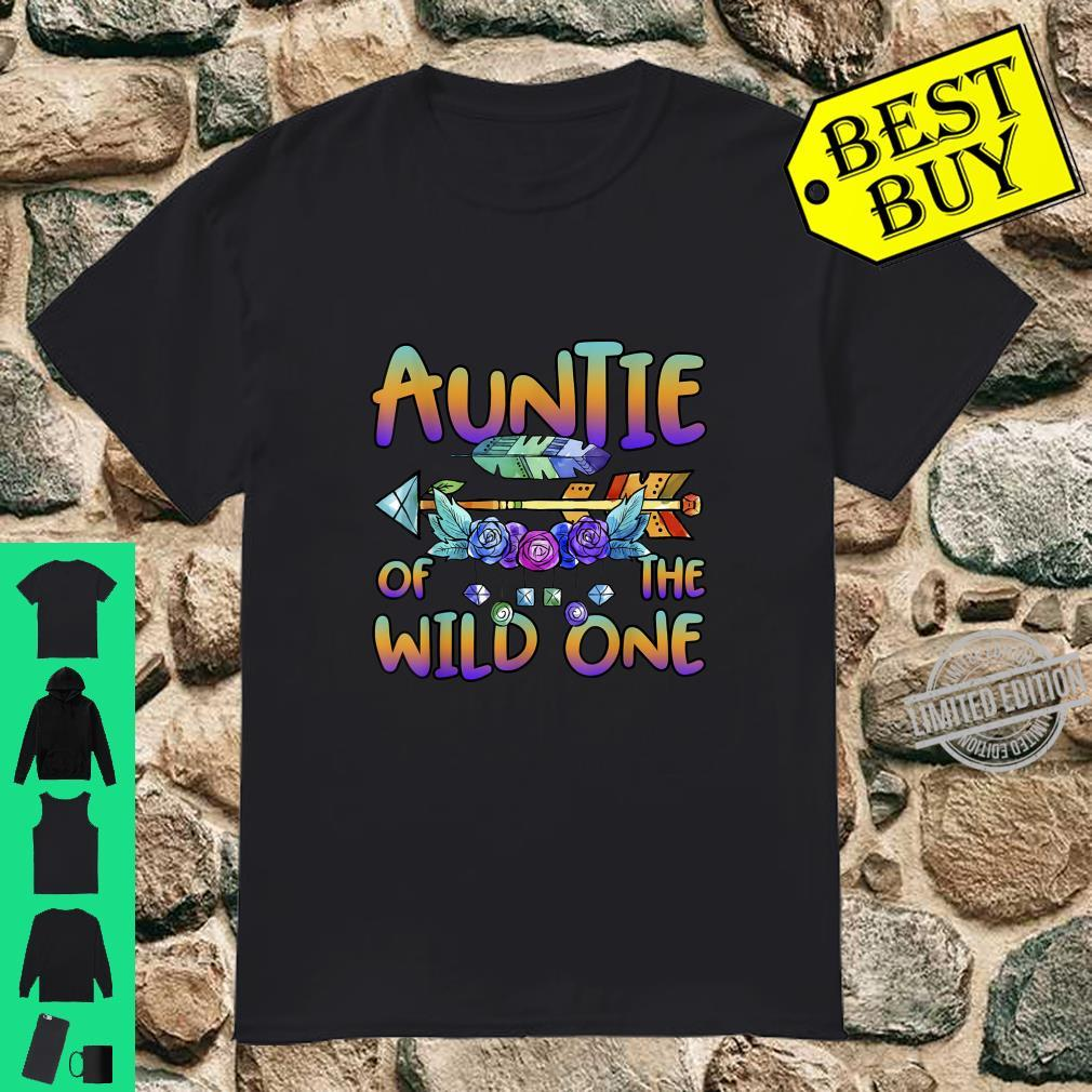 Official Auntie of the Wild One 1st Birthday Matching Family Outfits Shirt