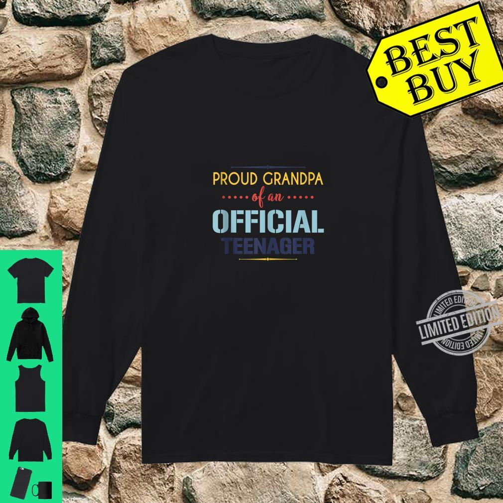 Officialnager Grandpa 13th birthday Grandpa party Shirt long sleeved