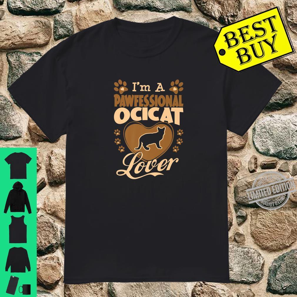 Pawfessional Ocicat Cat Valentine Shirt