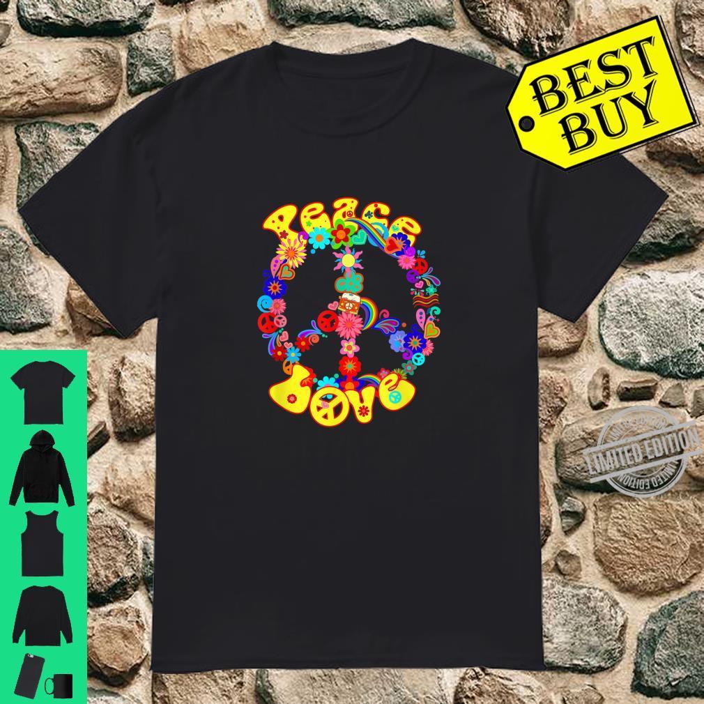 Peace Sign Hippie Love Groovy 60s 70s Retro Shirt