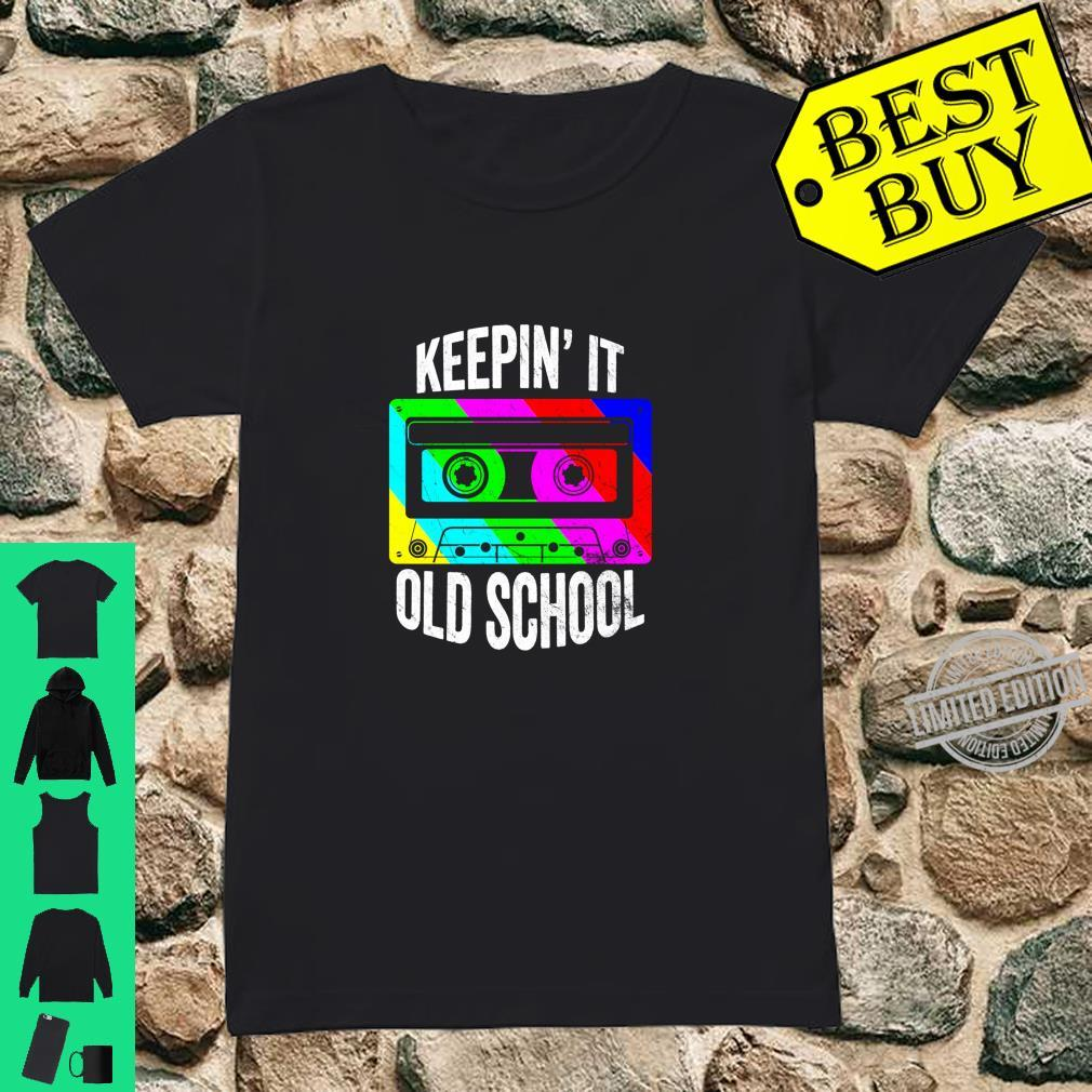 Retro 80s 90s Old School Cassette Hip Hop Mixtape Costume Shirt ladies tee