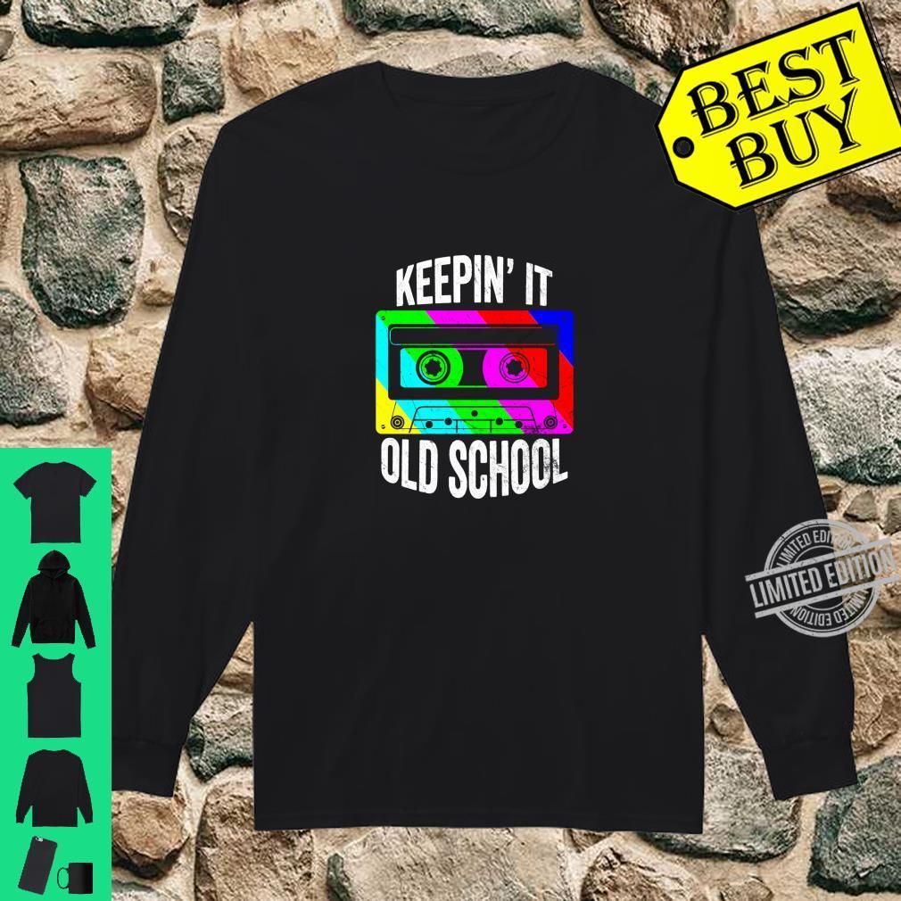 Retro 80s 90s Old School Cassette Hip Hop Mixtape Costume Shirt long sleeved