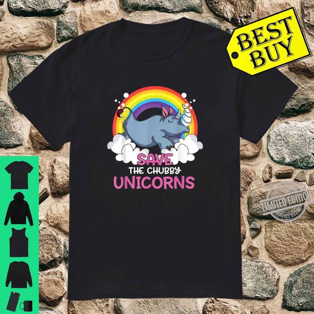 Save The Chubby Unicorns Rainbow Unicorn Shirt