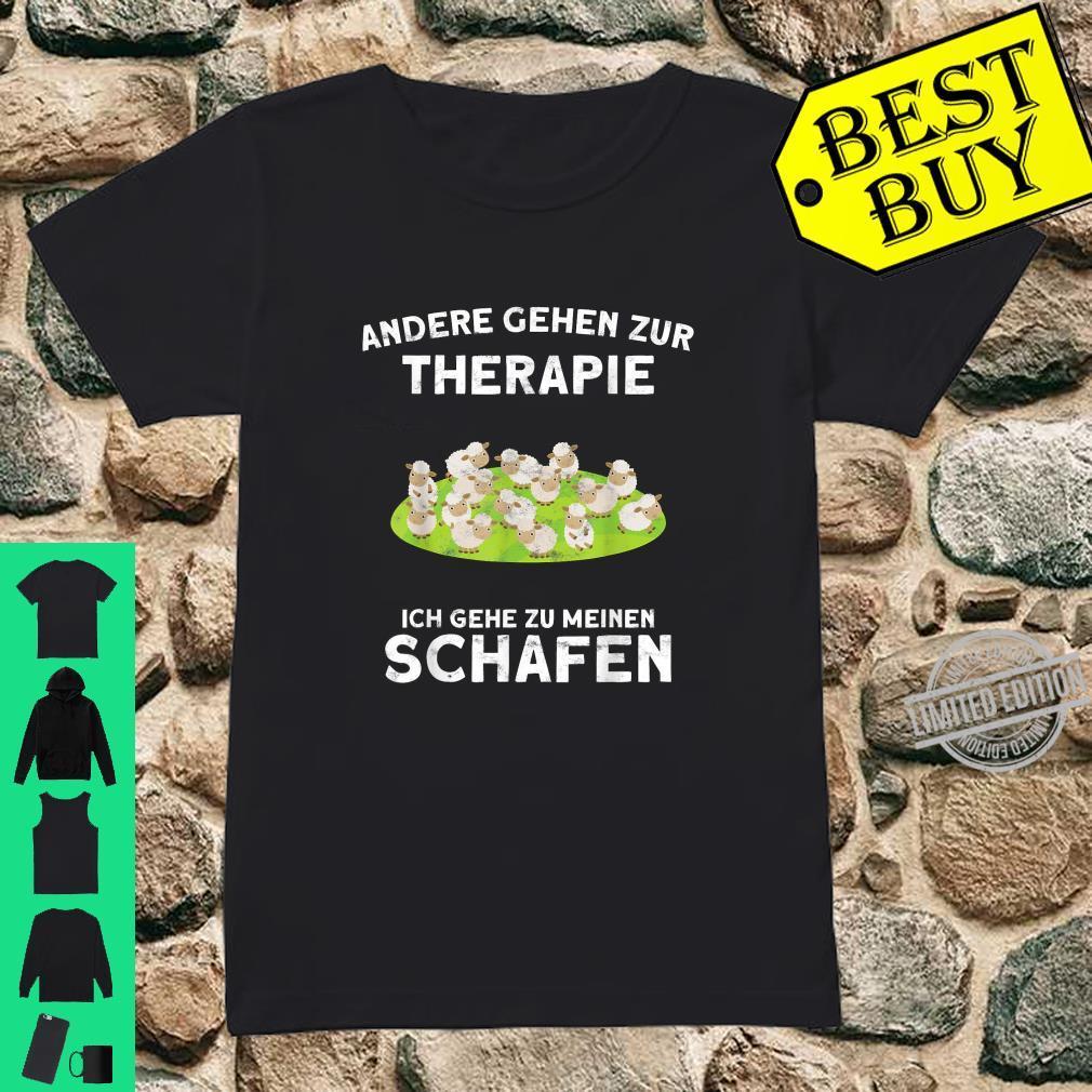 Schaf Geschenk Andere gehen zur Therapie Shirt ladies tee