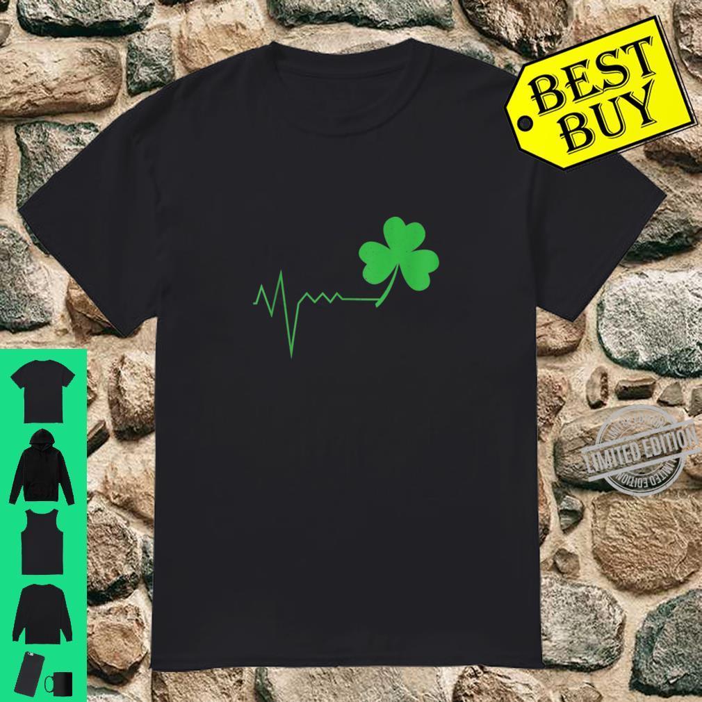 St Patricks Day Green Lucky Shamrock Heart Beat Shirt