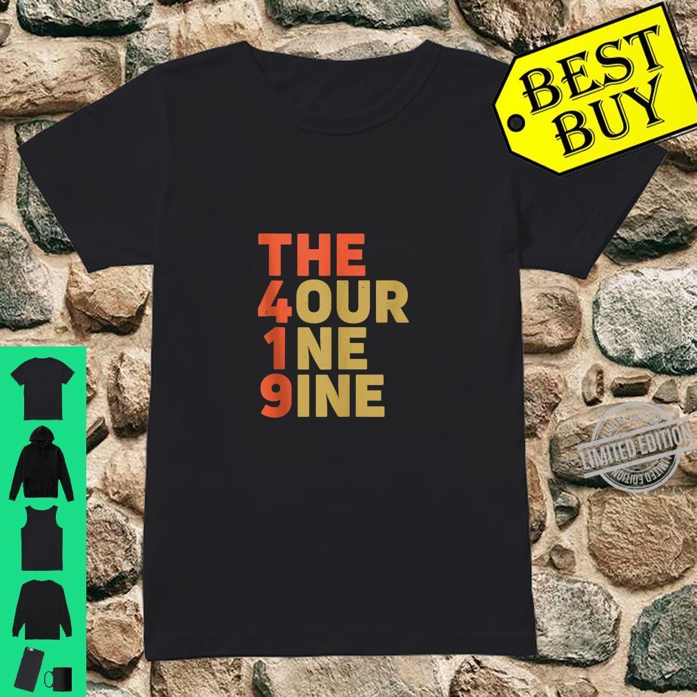 The 419 Four One Nine Toledo Hills Ohio City Area Code Shirt ladies tee