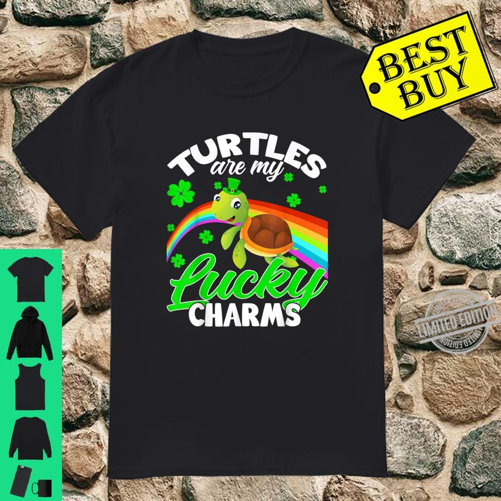 Turtles Are My Lucky Charm Turtles St Patty's Day Shirt