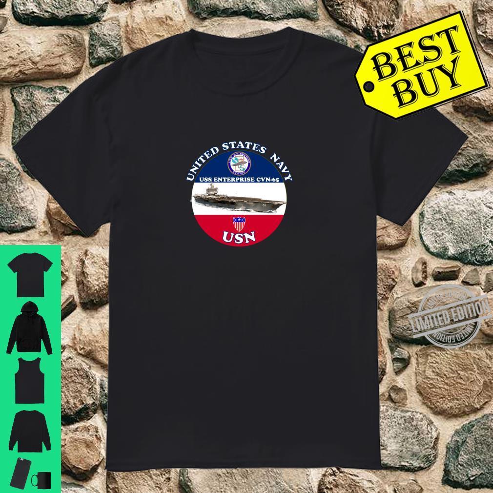 USS ENTERPRISE CVN65 ROUND Shirt