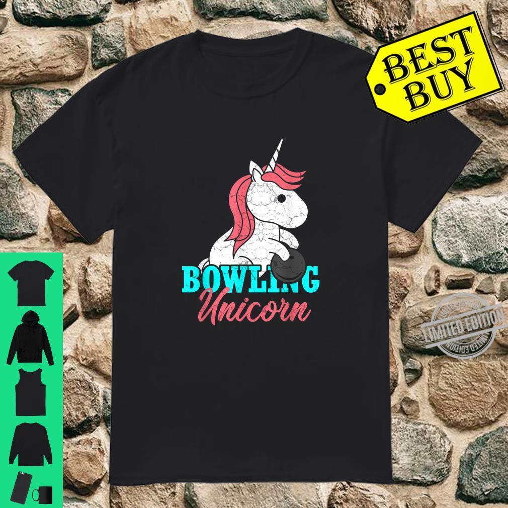 Unicorn Daughter Bowling Family Bowling Girl Shirt