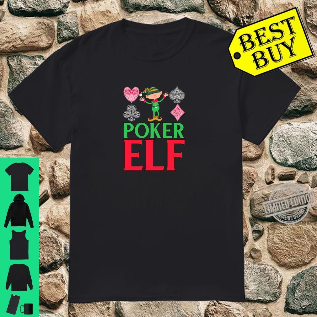 WeihnachtsPoker Süßer lustiger PokerElf Shirt
