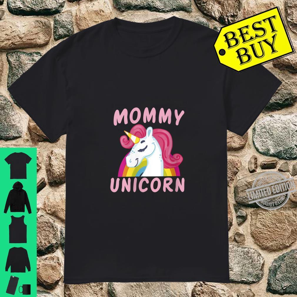 Womens Birthday Mommy Unicorn Cute Unicorns Bday Team Shirt