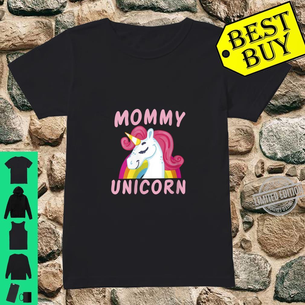 Womens Birthday Mommy Unicorn Cute Unicorns Bday Team Shirt ladies tee