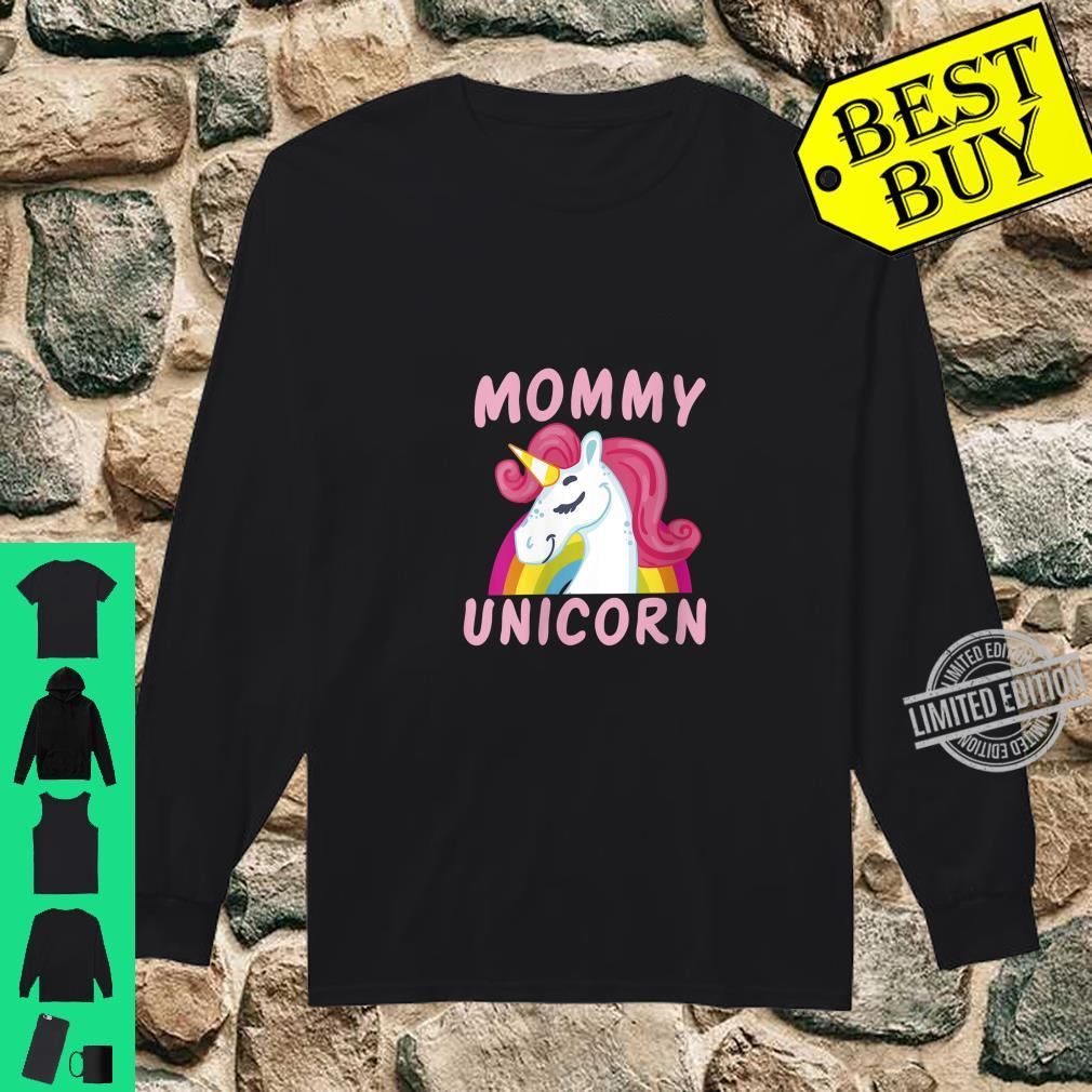 Womens Birthday Mommy Unicorn Cute Unicorns Bday Team Shirt long sleeved
