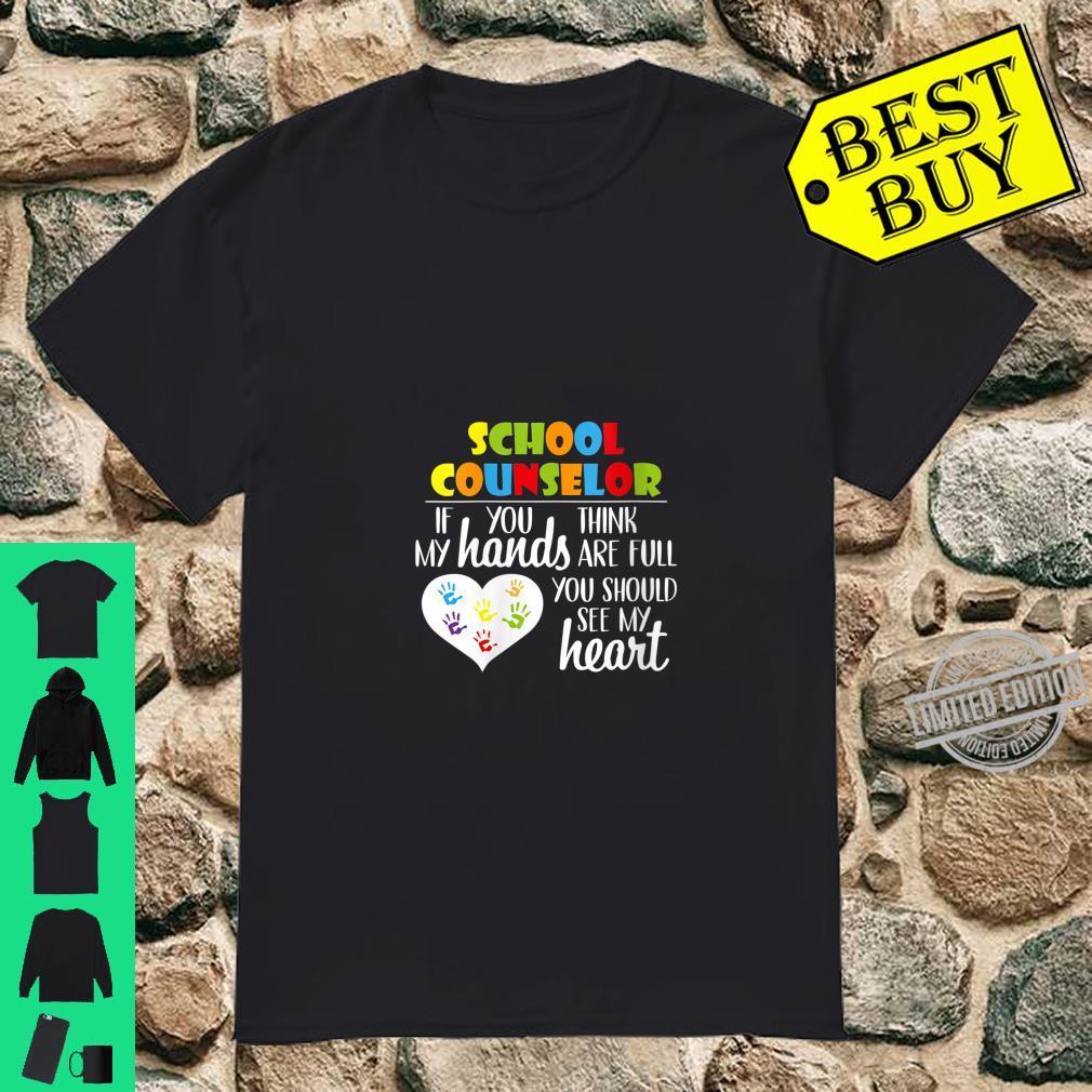 Womens School Counselor Full Heart Appreciation Shirt