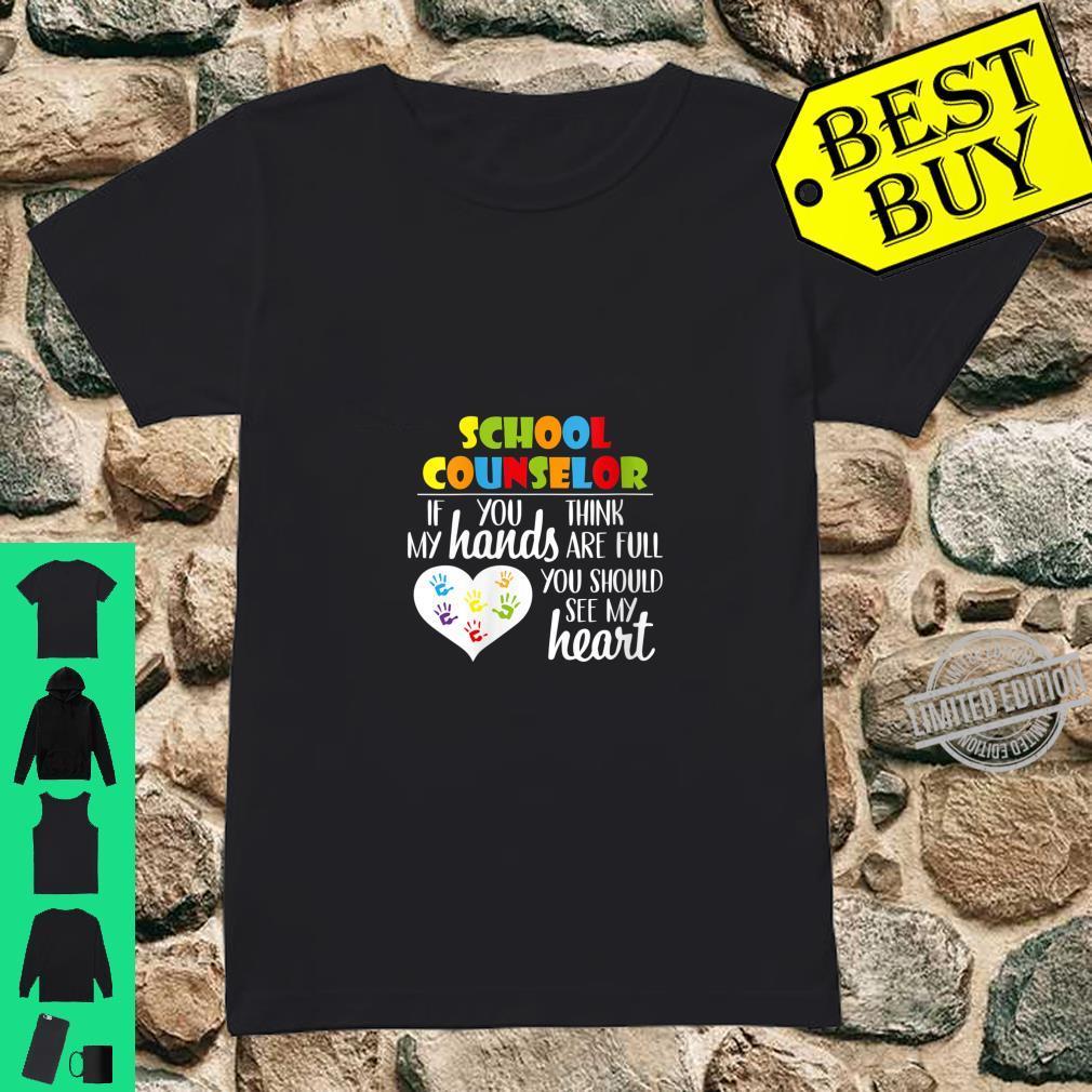 Womens School Counselor Full Heart Appreciation Shirt ladies tee