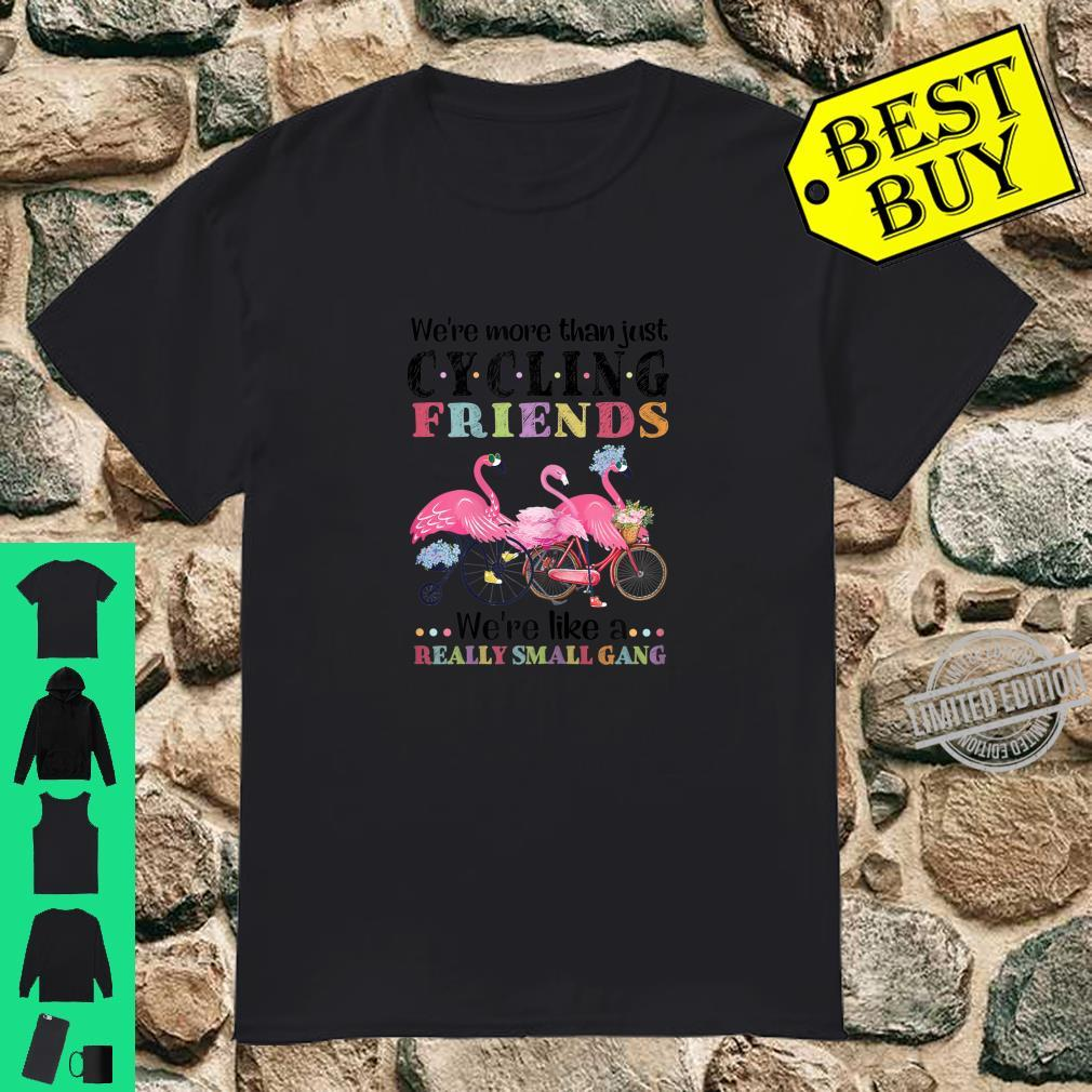 Womens We're More Than Cycling Friends We're Like A Small Gang Shirt